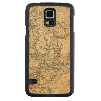 Mapa militar de Hughes de Richmond y de Funda De Galaxy S5 Slim Arce