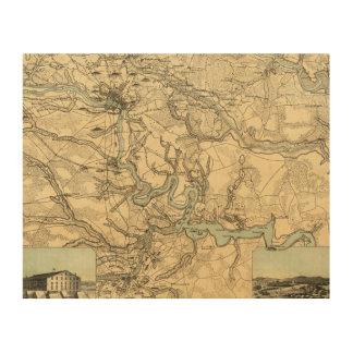 Mapa militar de Hughes de Richmond y de Petersburg