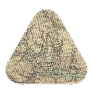 Mapa militar de Hughes de Richmond y de Petersburg Altavoz