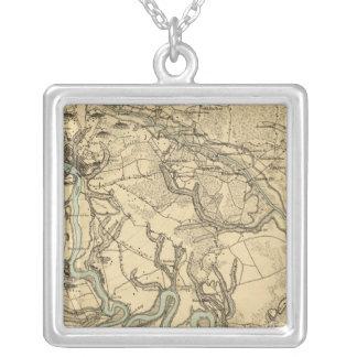 Mapa militar de Hughes de Richmond y de Petersburg Collares