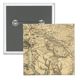 Mapa militar de Hughes de Richmond y de Petersburg Pins