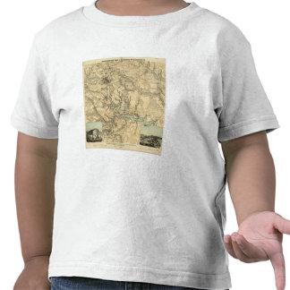 Mapa militar de Hughes de Richmond y de Petersburg Camisetas