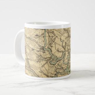 Mapa militar de Hughes de Richmond y de Taza Grande