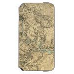 Mapa militar de Hughes de Richmond y de Funda Cartera Para iPhone 6 Watson