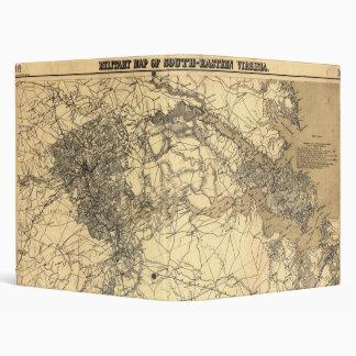 "Mapa militar de Virginia del sudeste (1864) Carpeta 1"""