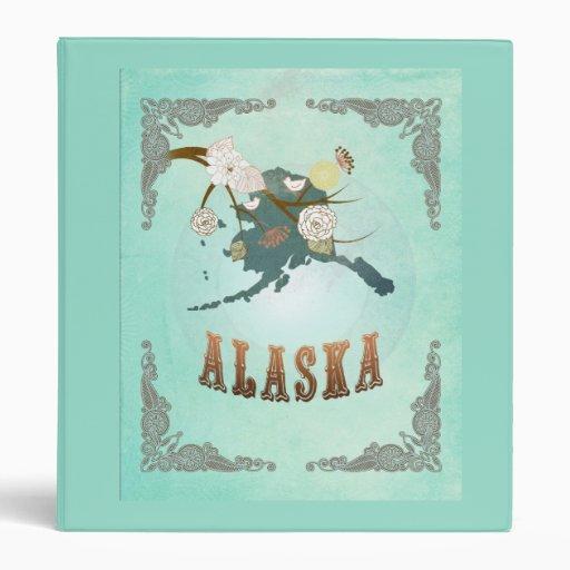 Mapa moderno del estado de Alaska del vintage - az