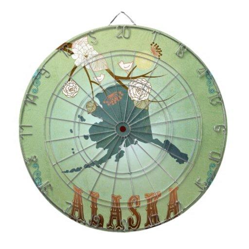 Mapa moderno del estado de Alaska del vintage - ve Tablero De Dardos