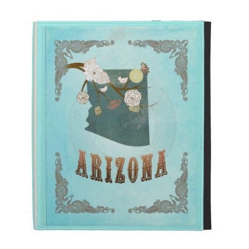 Mapa moderno del estado de Arizona del vintage - a