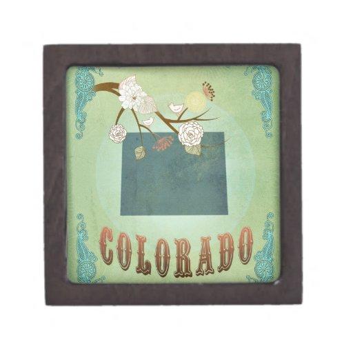 Mapa moderno del estado de Colorado del vintage -  Caja De Joyas De Calidad