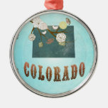 Mapa moderno del estado de Colorado del vintage -  Adornos De Navidad