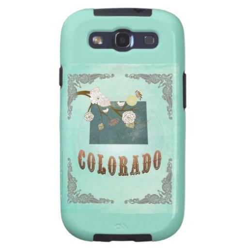 Mapa moderno del estado de Colorado del vintage -  Galaxy S3 Cobertura