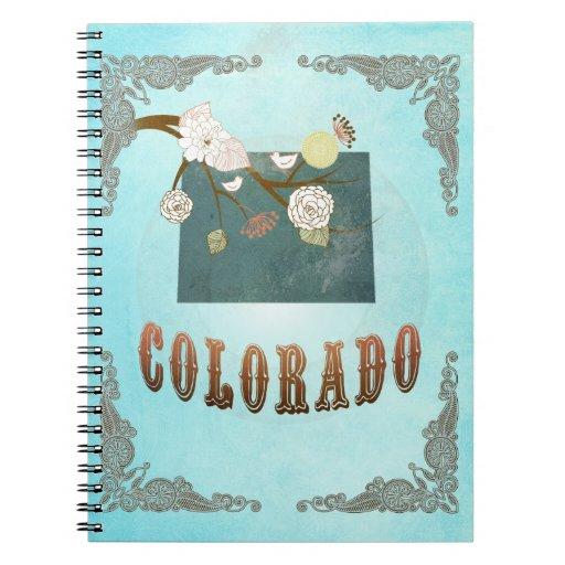 Mapa moderno del estado de Colorado del vintage -  Libros De Apuntes