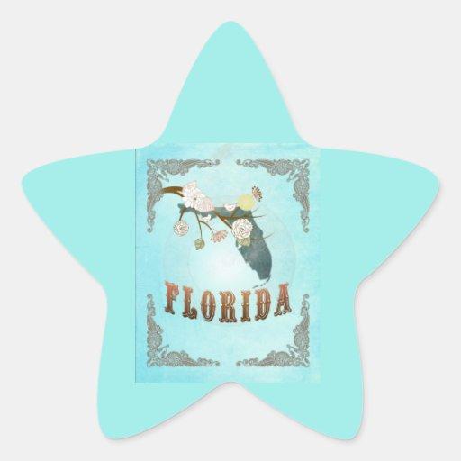 Mapa moderno del estado de la Florida del vintage Colcomania Cuadrada
