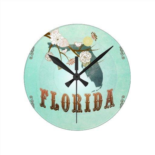 Mapa moderno del estado de la Florida del vintage  Reloj