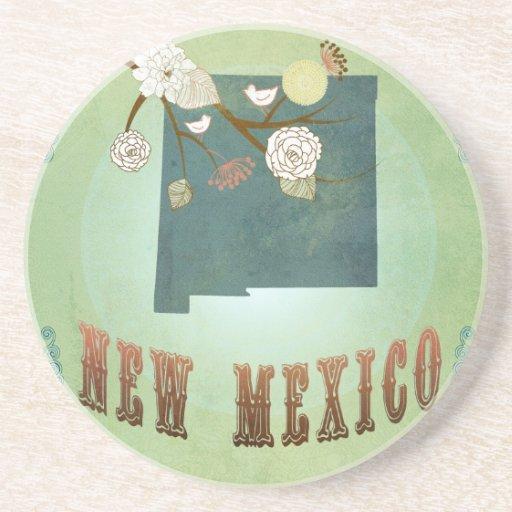 Mapa moderno del estado de New México del vintage  Posavasos Diseño