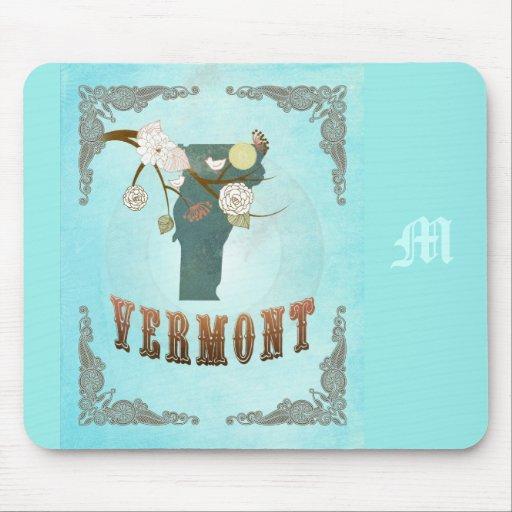 Mapa moderno del estado de Vermont del vintage - a Alfombrilla De Raton