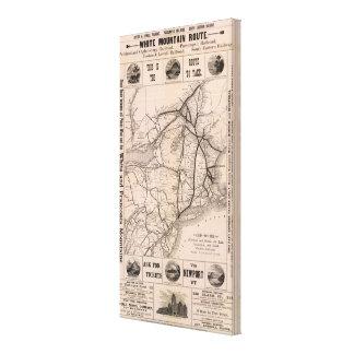 Mapa Montreal y línea de aire de Boston Lona Estirada Galerías