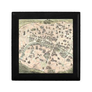 Mapa monumental de Nouveau París Cajas De Regalo