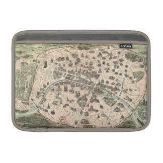 Mapa monumental de Nouveau París Fundas Para Macbook Air