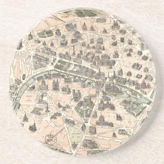Mapa monumental de Nouveau París Posavasos De Arenisca