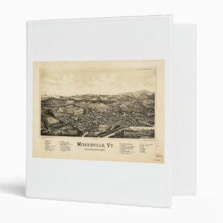 """Mapa Morrisville Vermont (1889) de la opinión del Carpeta 1"""""""