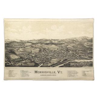 Mapa Morrisville Vermont (1889) de la opinión del Mantel Individual