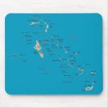 Mapa Mousepad de Bahamas Tapetes De Ratones