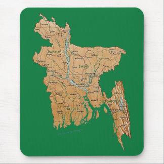 Mapa Mousepad de Bangladesh Tapetes De Ratón