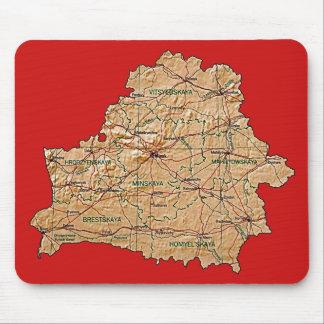Mapa Mousepad de Bielorrusia Alfombrillas De Ratón