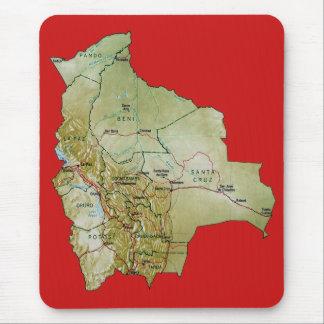 Mapa Mousepad de Bolivia Alfombrilla De Ratón