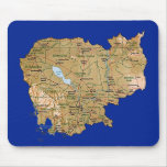 Mapa Mousepad de Camboya Alfombrillas De Raton