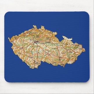 Mapa Mousepad de Czechia