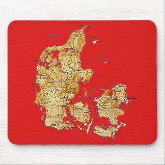 Mapa Mousepad de Dinamarca Alfombrillas De Raton