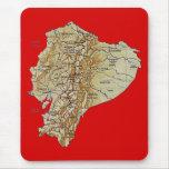 Mapa Mousepad de Ecuador