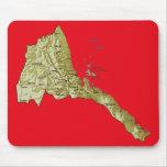 Mapa Mousepad de Eritrea