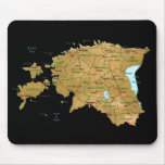 Mapa Mousepad de Estonia Tapetes De Ratón