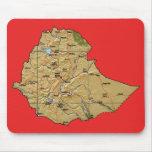 Mapa Mousepad de Etiopía Tapete De Ratón