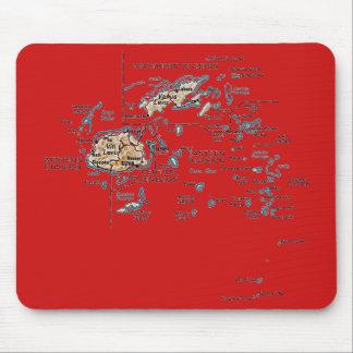 Mapa Mousepad de Fiji