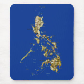 Mapa Mousepad de Filipinas Tapete De Raton