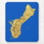 Mapa Mousepad de Guam Alfombrilla De Raton