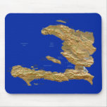 Mapa Mousepad de Haití Tapete De Ratón