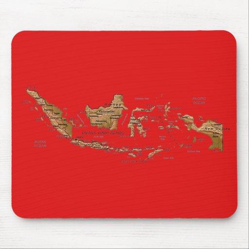 Mapa Mousepad de Indonesia Alfombrilla De Raton
