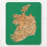 Mapa Mousepad de Irlanda