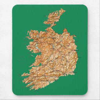 Mapa Mousepad de Irlanda Tapetes De Ratones