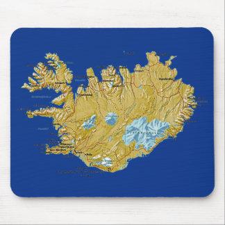 Mapa Mousepad de Islandia