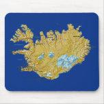 Mapa Mousepad de Islandia Tapetes De Ratón