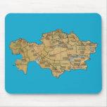 Mapa Mousepad de Kazajistán Tapete De Raton