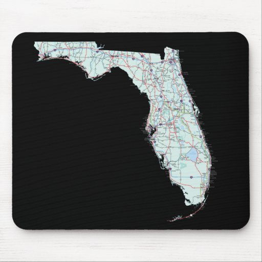 Mapa Mousepad de la Florida Alfombrilla De Raton