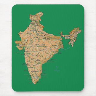 Mapa Mousepad de la India Alfombrillas De Raton
