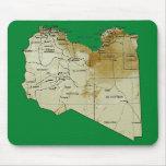 Mapa Mousepad de Libia Alfombrilla De Ratón